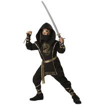 Disfraz Ninja Negro Para Niños Y Adolescentes Envio Gratis