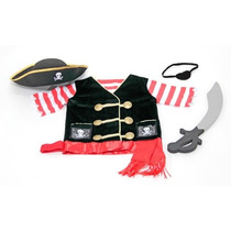 Disfraz De Pirata Para Niño O Niña Viene Con Accesorios Vv4