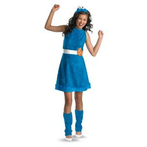 Disfraz Come Galletas Plaza Sesamo Para Niñas Y Adolescentes