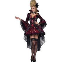 Disfraz Vampiro Adulto Mujer Dracula Halloween Vampiresa
