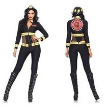 Disfraz Bombera Leg Avenue Fiesta De Halloween Omm