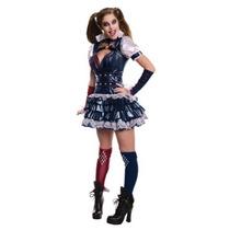 Disfraz Mujer Arlequin Halloween Adulto Arkham Harley Quinn