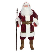 Disfraz De Santa Claus Clasico, Antiguo Para Adultos Navidad