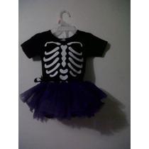 Disfraz Bebe Halloween Esqueleto Calavera 6-12m