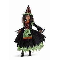 Disfraz Traje Infantil Niñas Bruja Brujita Halloween Fiesta
