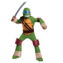 Disfraz De Tortuga Ninja Leonardo Para Niños, Envio Gratis