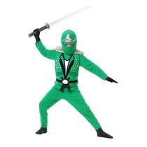 Disfraz De Ninja Verde Para Niños Y Adolescentes Envio Grati