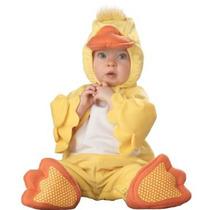 Incharacter Infantil Pato Traje Amarillo / Naranja / Blanco