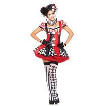 Disfraz Mujer Arlequin Halloween Adulto Harley Quinn Payasa