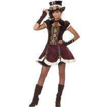 Disfraces California Steampunk Chica Tween Vestuario X-large