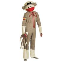 Disfraz De Chango Sock Monkey Para Adultos, Envio Gratis