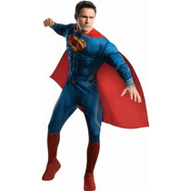 Disfraz Traje De Lujo Super Man Tamaño Adulto Disfraces Hm4