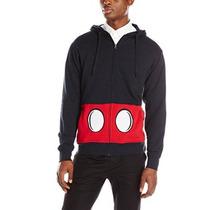 Disney Hombres De Mickey Mouse Frente-zip Traje Chaqueta Con