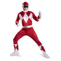 Disfraz De Power Ranger Rojo Para Adultos, Envio Gratis