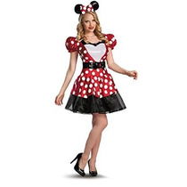 Disney Glam Minnie Mouse Del Traje De La Mujer Disfraz