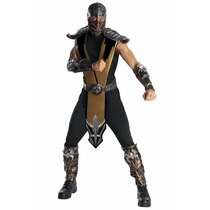 Disfraz Mortal Kombat Scorpion Hombre Adulto Halloween