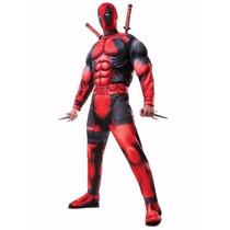 Marvel Disfraz Traje Deadpool Men Adulto Halloween Talla Xl