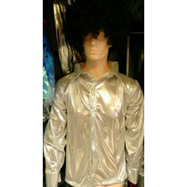 Camisa De Los 70s Disco Salsa Fiesta Rockero Para Hombre