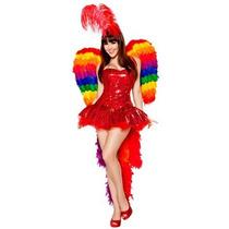 Disfraz De Perico, Carnaval, Rio, Guacamaya, Ave Para Damas