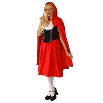Disfraz De Caperucita Roja Para Damas, Envio Gratis