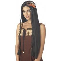 Peluca De Indigena, India, Apache, Pocahontas Para Damas
