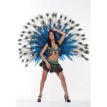 Alas / Plumas De Pavo Real De Lujo, Carnaval Para Damas