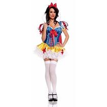 Disfraz Dama Blanca Nieves Fiesta Sexy Stripper Pole Dance