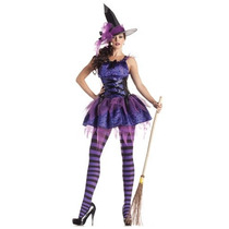 Disfraz Mujer Bruja Sexy Halloween Adulto Dama