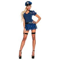 Disfraz Mujer Policia Disfraces Sexy Halloween Adulto Dama
