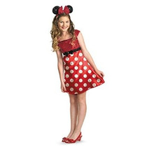 Red Minnie Mouse Costume Girls
