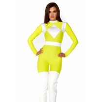 Disfraz De Power Ranger Amarillo Para Damas Envio Gratis