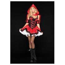 Leg Avenue Disfraz Caperucita Roja 4 Piezas Adulto Sexy Mdd