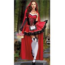 Disfraz De Lujo De Caperucita Con Capa Larga Para Halloween