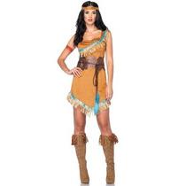 Oferta Unica! Disfraz De Princesa Pocahontas Para Damas S/m
