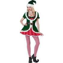Disfraz De Ayudante De Santa Claus, Navidad, Duende, Damas