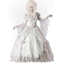 Disfraz Fantasma Victoriano Mujer Halloween Dama Vestido