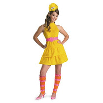 Plaza Sésamo Big Bird De Disfraces De Halloween - Tween