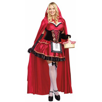 Disfraz Caperucita Roja Deluxe Extragrande Dama Carnval