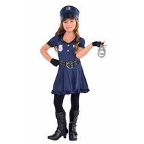 Disfraz Infantil Traje Niña Policia Cop Halloween Fiesta