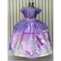 Vestido Disfraz Princesa Sofia Elsa Ana Zapatillas Rapunzel