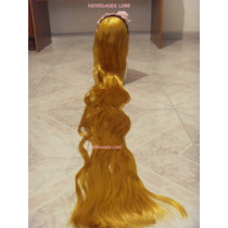 Hermosa Peluca Rapunzel Disfraz Enredados Vestido Zapatillas