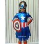 Hermoso Vestido Disfraz Capitan America Niña Disfraces Niños