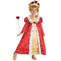 Disfraz De Reina Roja De Alicia Para Niñas, Envio Gratis