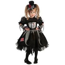 Disfraz De Esqueleto, Calavera Para Niñas, Envio Gratis