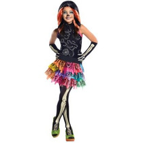 Disfraz De Skelita, Monster High, Esqueleto, Calavera Niñas
