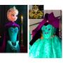 Disfraz Vestido Elsa Coronacion Y Anna Frozen Princesas