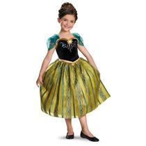 Disfraz Anna Frozen Disney Vestido Princesa Coronacion