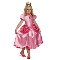 Disfraz Vestido Princesa Peach Mario Bros Niña Talla 7/8