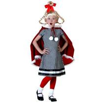 Disfraz De Cindy Lou Quien, Grinch, Navidad Para Niñas