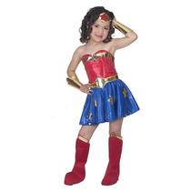 Disfraz De Lujo Mujer Maravilla Para Niña Superheroes